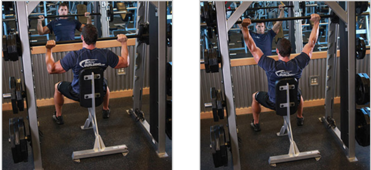 Overhead Shoulder Press (Smith Machine)