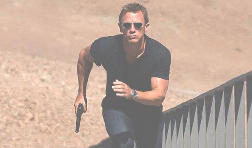 Bond in a polo shirt
