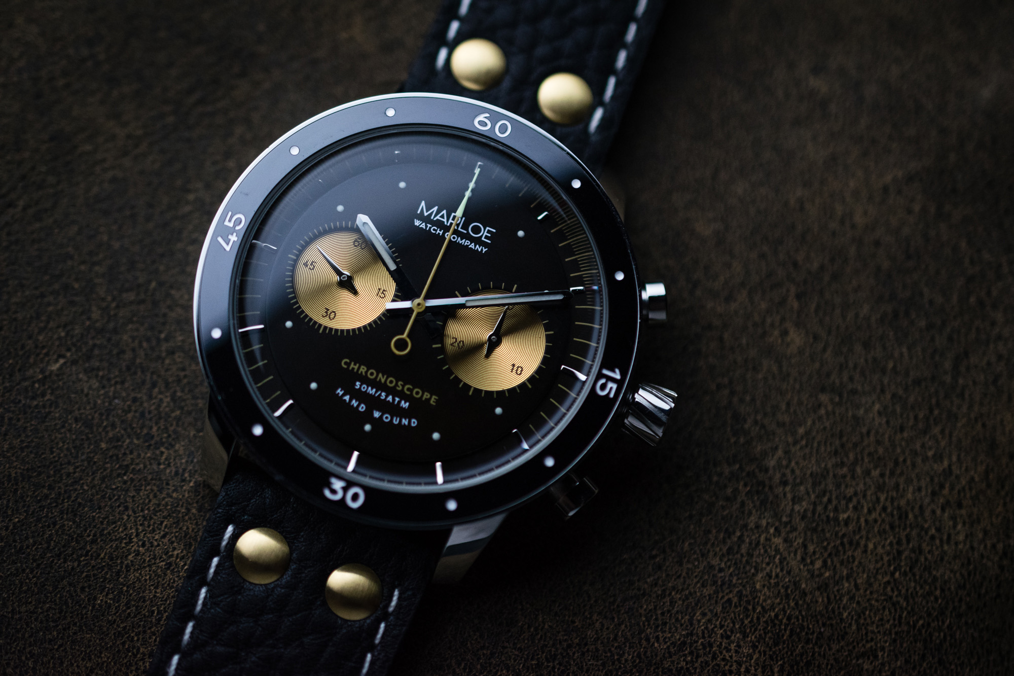 Lomond Chronoscope_Vintage Coffee by Marloe Watch Co.