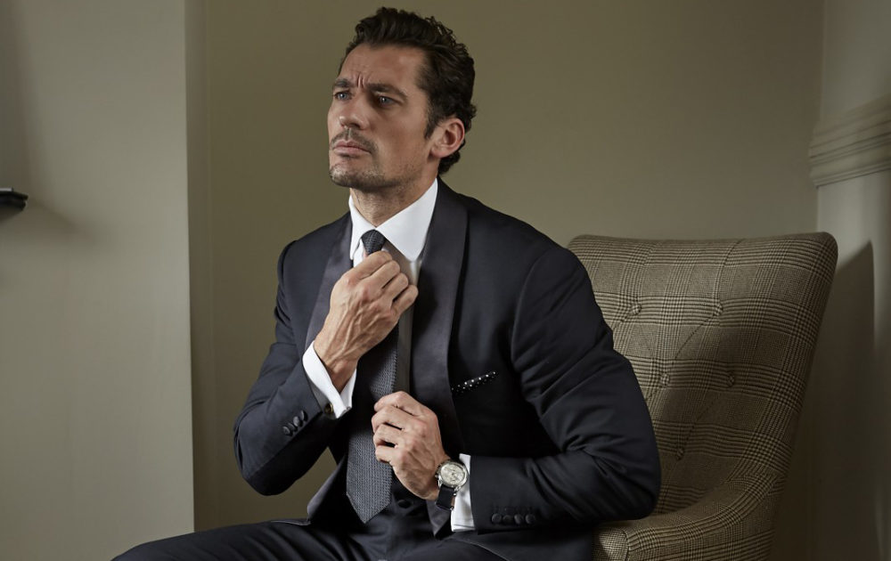 David Gandy in suit, shirt and tie