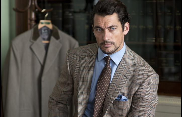 David Gandy in suit, shirt and tie