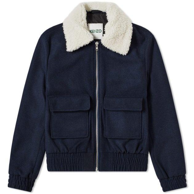 Kenzo Aviator Jacket Navy