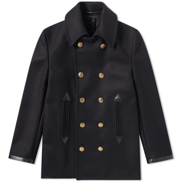Givenchy Wool Pea Coat Black