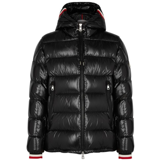 Moncler Alberic Black Quilted Shell Coat
