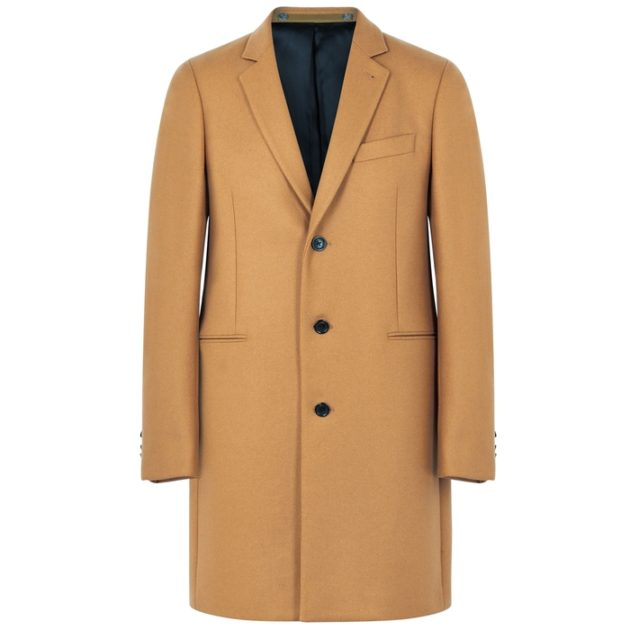 PS By Paul Smith Camel Wool-blend Coat