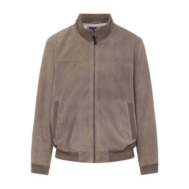 suede bomber jacket by hackett