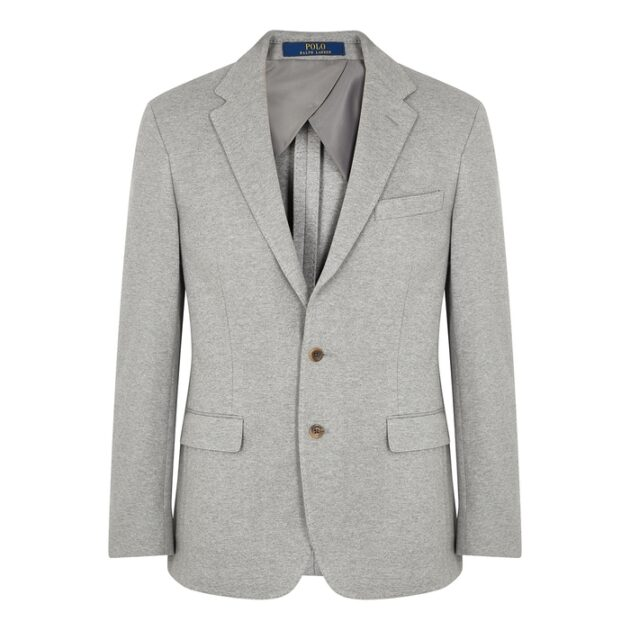 Polo Ralph Lauren Light Grey Stretch-cotton Blazer