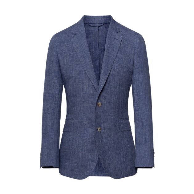Hackett Blue Check Linen Blazer