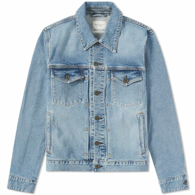 Rag & Bone Definitive Slim Fit Washed Denim Jacket Montauk