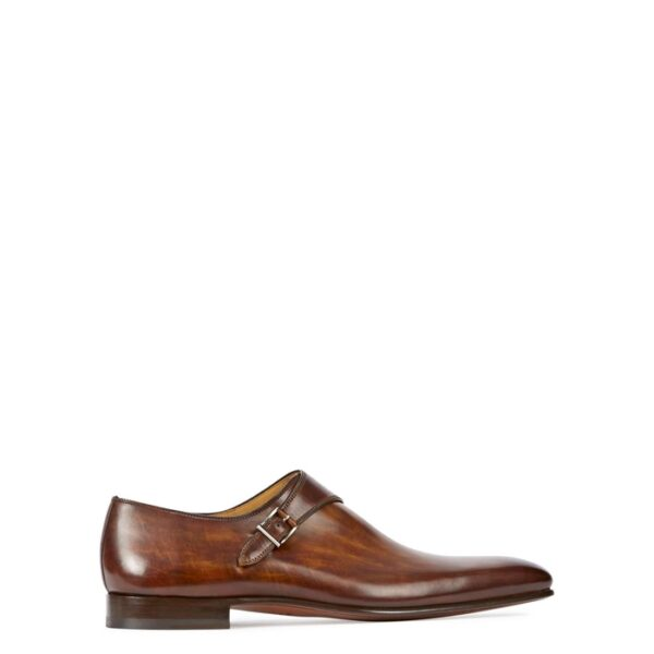MAGNANNI Dark Brown Monk-strap Shoes