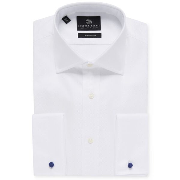 Chester Barrie White Basketweave Shirt
