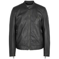 Belstaff Black Leather Biker Jacket