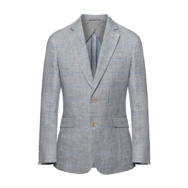 Hackett Windowpane Check Linen Blazer