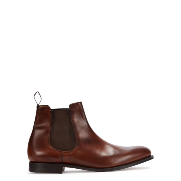 Church's Houston Walnut Leather Chelsea Boots