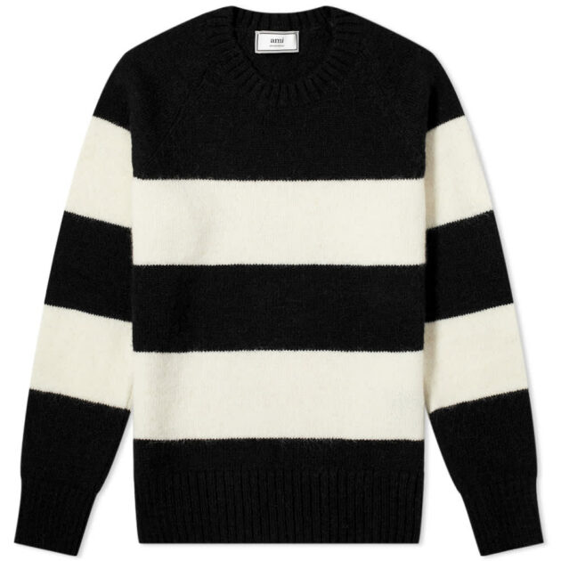 ami_bold_striped_chunky_crew_knit