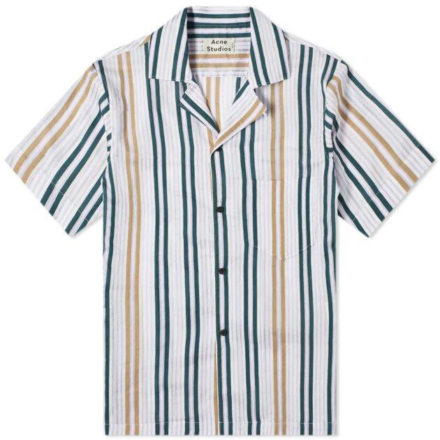 ACNE Studios Simon Sheer Stripe Vacation Shirt – vertical stripe shirts
