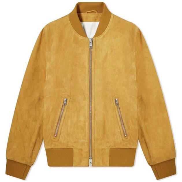 suede bomber jacket – spring casualwear essentials