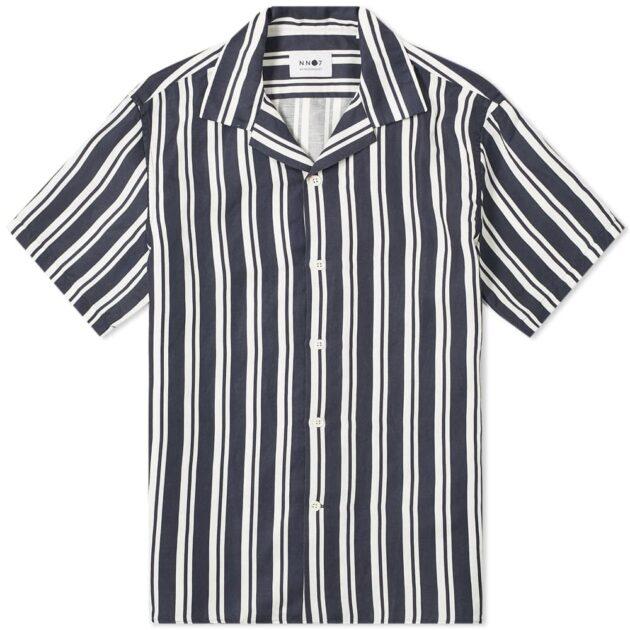 NN07 Striped Miyagi Vacation Shirt – vertical stripe shirts