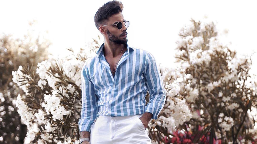 mens vertical striped shirt